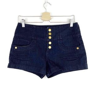 Guess Sailor Button Snap Fly Indigo Wash Shorts